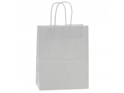 Taška dárková přírodní bílá 25 x 32 x 11 cm