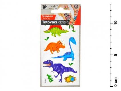 Tetovací obtisky 1106 10,5x6 cm- malí dinosauři
