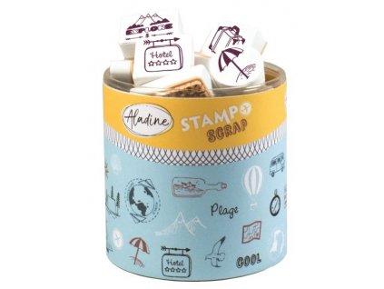 Razítka Aladine StampoScrap Cestování 46ks