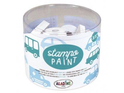Razítka Aladine StampoPaint Auta 12ks