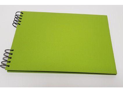Album Delux světle zelená A4 ležící černé listy