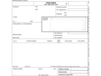 faktura pro neplatce DPH A4
