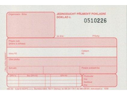 prijmovy doklad s DPH cisl. 2x25