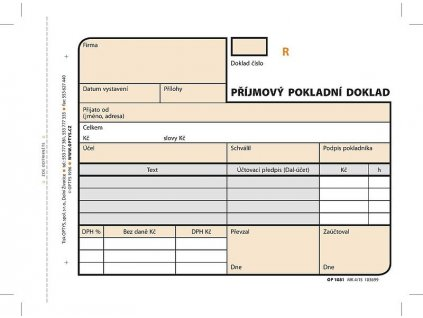 tiskopis optys 1081 prijmovy pokladni doklad samopropisovaci cislovany 2x50 listu max1