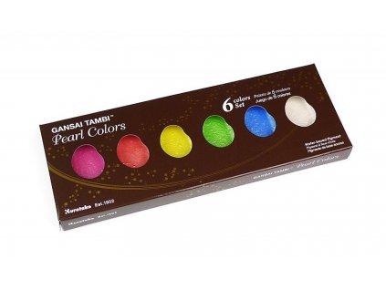 akvarelove barvy tambi pearl colours set