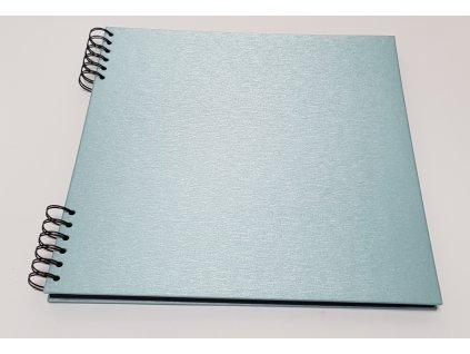 Album Delux světle modrá 31x31 černé listy