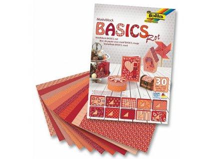 kreativni papir folia basics rot 01