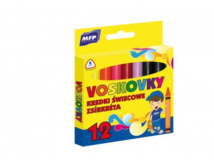 Voskovky  12 barev - trojhranné