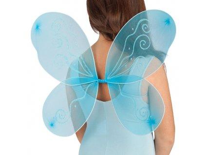modra motyli kridla