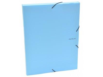 krabice pp s gumou a4 pastelini modra 2 575 original