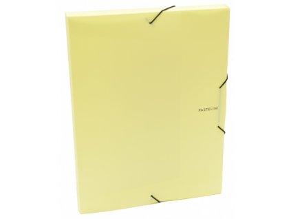 krabice pp s gumou a4 pastelini zluta 2 578 original