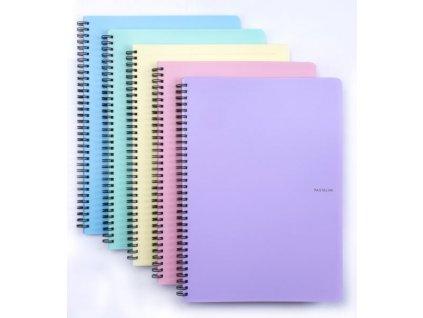 karton p p krouzkovy blok a4 pastelini fialovy
