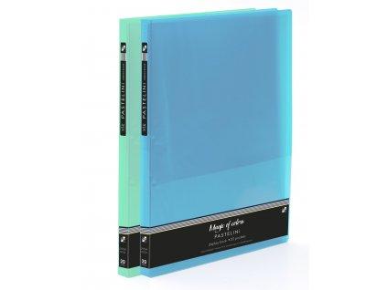 Katalogová kniha A4 PP 20 listů PASTELINI modrá