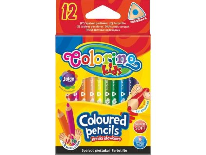 trojhranne pastelky colorino