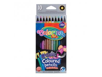 pastelky colorino metalicke