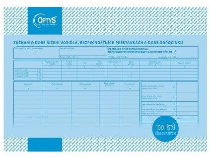 Záznam o provozu nákl. dopravy r166