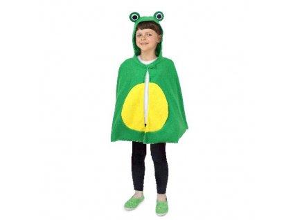 Pelerína Žába zelená s kapucí délka 46cm