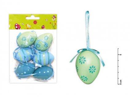 Vajíčka plast 6cm/6ks mix S150041/B