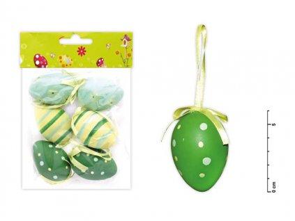 Vajíčka plast 6cm/6ks mix S150041/G