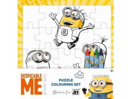 98570625 omalovankove puzzle s voskovkami mimoni