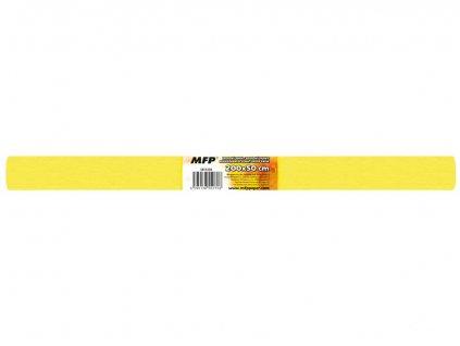 Krepový papír role 50x200cm žlutý
