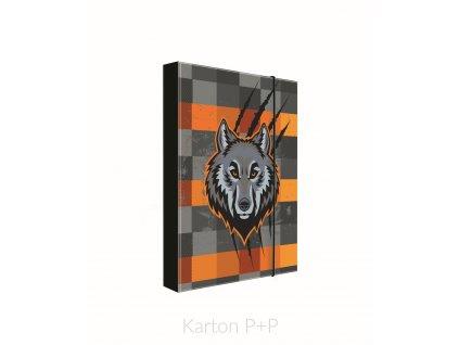 Desky A5 box na sešity  kolekce 2019 vlk