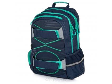 Studentský batoh OXY Sport PASTEL LINE green