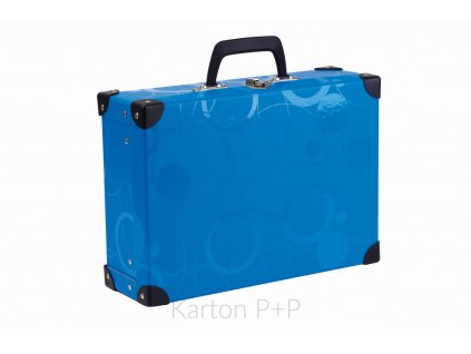 Kufřík lamino hranatý okovaný kolekce 2019 NEO COLORI modrá