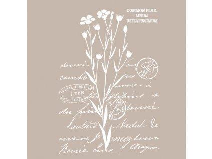 sablona cadence 25x36 cm lnene kvetinove pismo