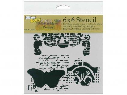 Šablona 6''x6'', Regal Butterfly, mini
