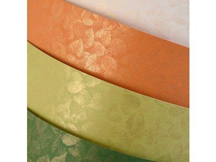 ozdobny papir listy zelena 250g 20 ks ie527095