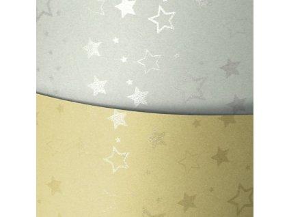 Papír na vizitky A4 Stars stříbrná 220g, 20ks