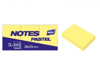 7500896 blocek samolepici zluty pastelovy