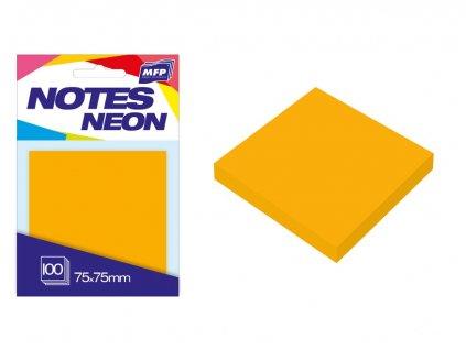 7500890 blocek samolepici oranzovy neon