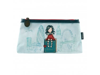 324GJ15 Gorjuss Cityscape Double Pencil Case MS 1 WR