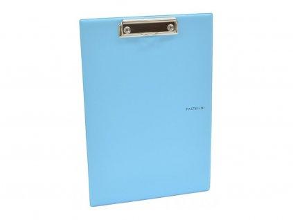 Deska A5 plastová s klipem PASTELINI modrá