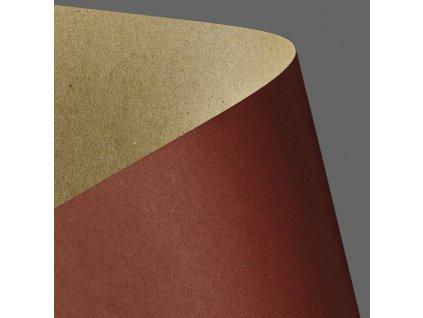 papir na vizitky kraft cervena