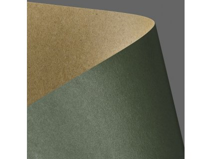 papir na vizitky kraft zelena