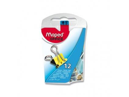 Vázací klipy MAPED kovové barevné 15 mm (12ks)