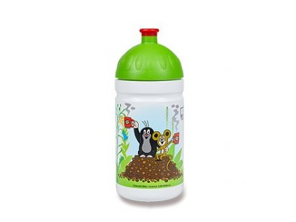 Zdravá láhev R&B Krtek a jahody zelená 0,5 l