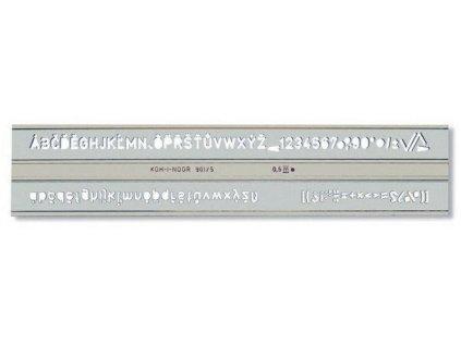 sablona 748006 pismenkova 5mm max