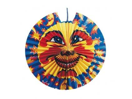 lampion diskovy slunce a hvezdy 36 cm