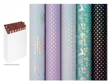 Balící papír vánoční role Delicate and Dreamy 150x70cm