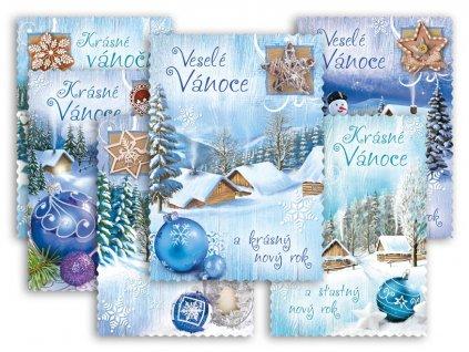 Pohlednice vánoční 149 C výsek