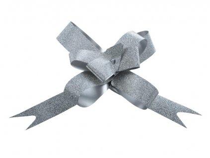 Stuha stahovací glitr stříbrná