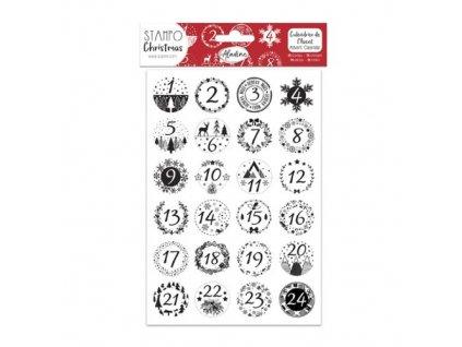 stampochristmas adventni kalendar vlocky
