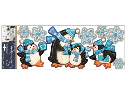 Samolepky plastické 57x20 cm, tučňáci