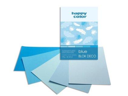 Barevný papír A4 170g 20l 5 odstinů modré