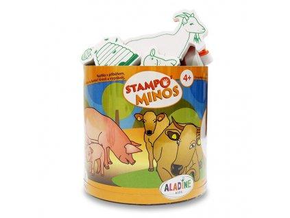 RazítkaALADINE StampoMinos,Zvířátka ze statku,23ks
