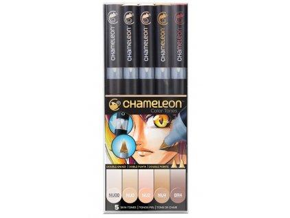 chameleon set fixy telova barva
